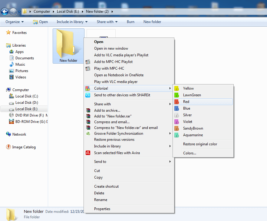 How To Change The Folder Colour In Windows