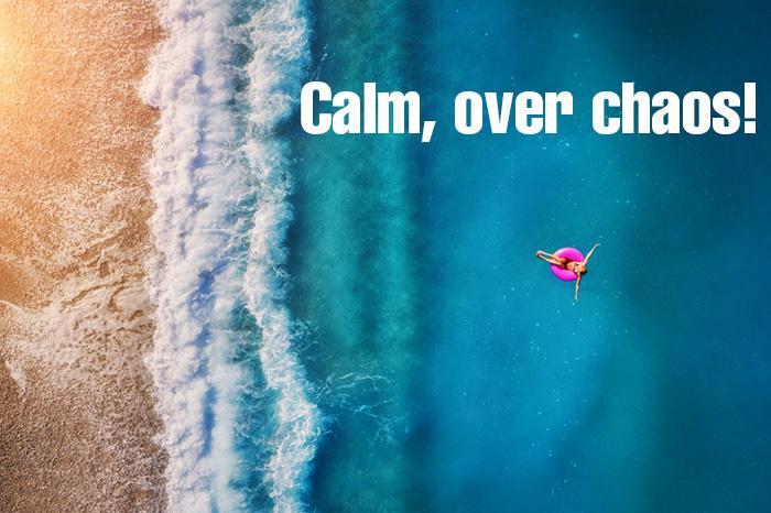calm over chaos girl whatspp dp idea