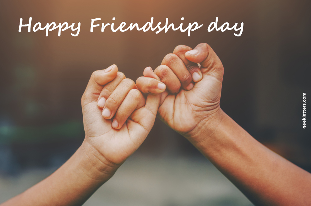 happy friendship day pinky promise