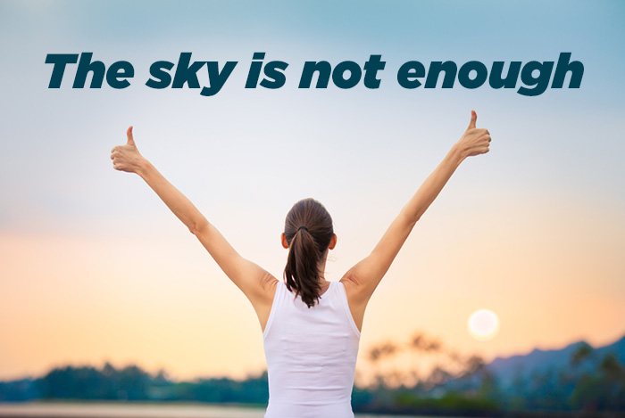 the sky is not enough quote girl whatsapp DP attitude