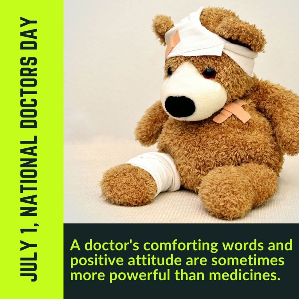 July 1, national Doctors Day teddy funny